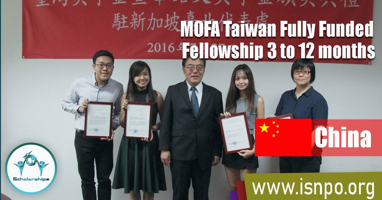 MOFA Taiwan Fully Funded Fellowship