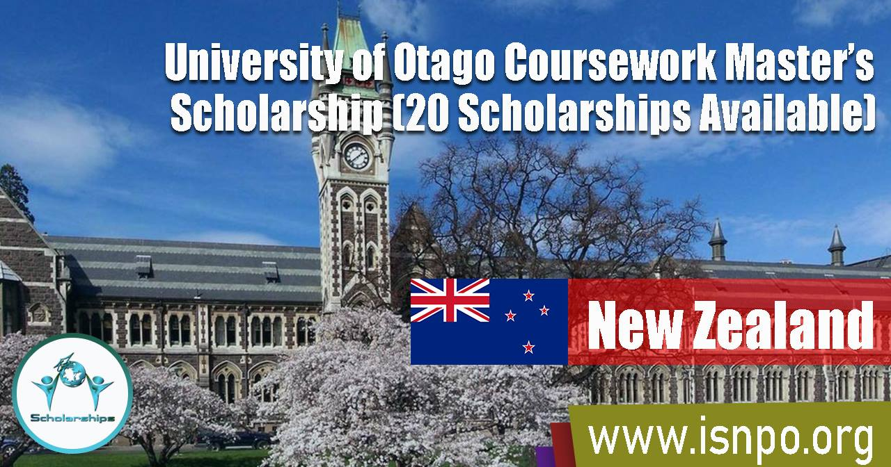 University of Otago Coursework Master's Scholarship