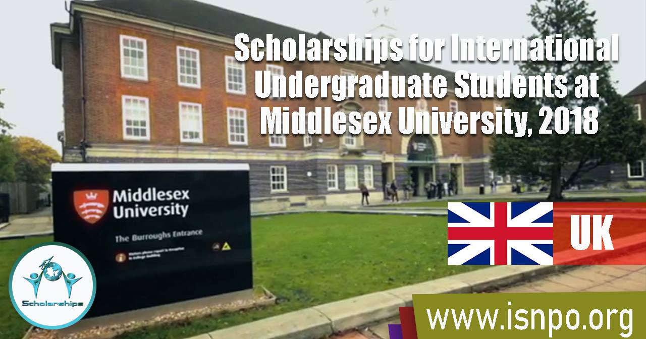 Scholarships for International Undergraduate Students at Middlesex University in UK, 2018