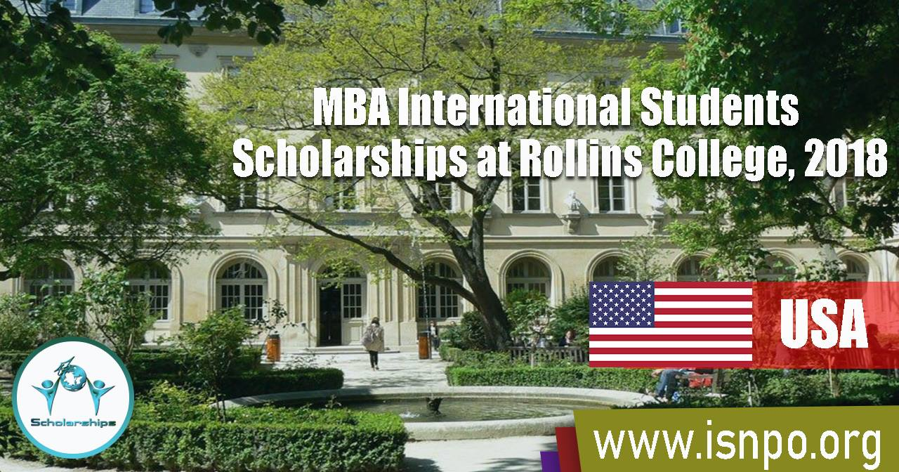 MBA International Students Scholarships at Rollins College in USA, 2018