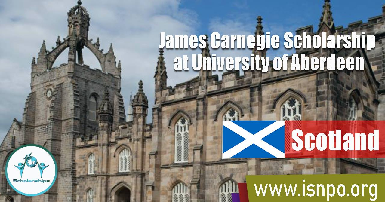 James Carnegie Scholarship at University of Aberdeen, Scotland