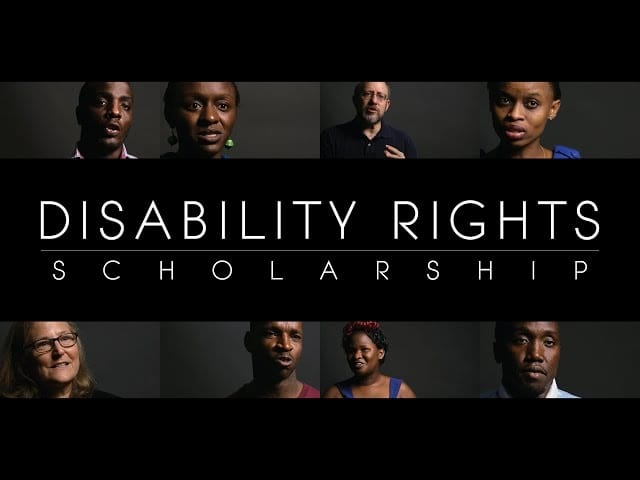 Open Society Foundation Disability Rights Scholarship Program 2018 for Africans (100% Scholarship)
