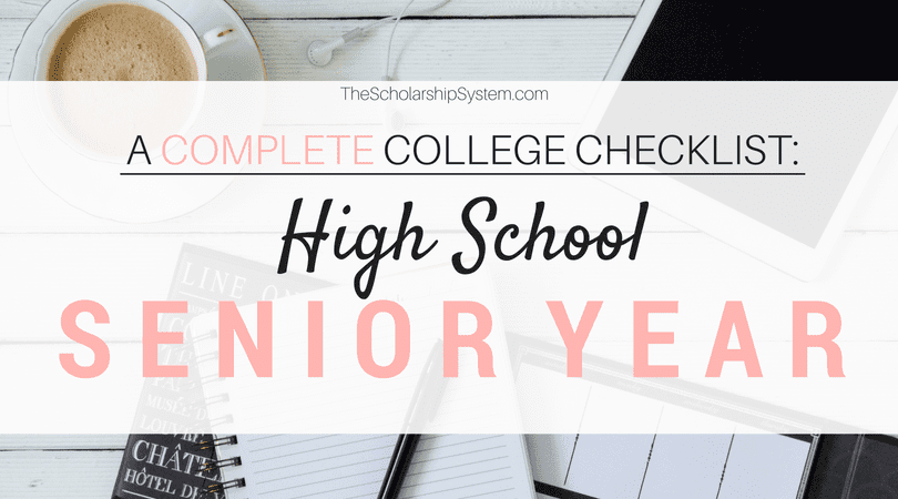 A Complete College Prep Checklist: High School Senior Year