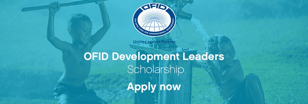 OFID Development Leaders Scholarships 2018 (Fully Funded to the One Young World Summit 2018 in The Hague, Netherlands)
