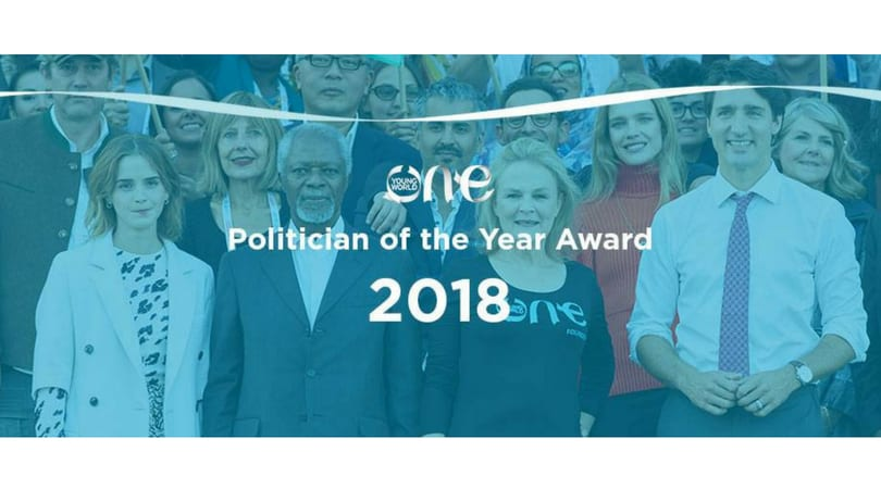 One Young World Politician of the Year Award 2018