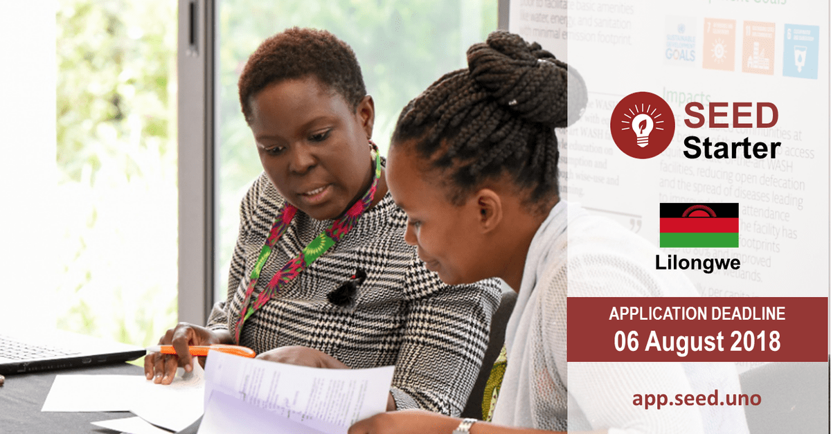 SAG-SEED Replicator Connect Workshops 2018 for eco-inclusive Entrepreneurs –Malawi