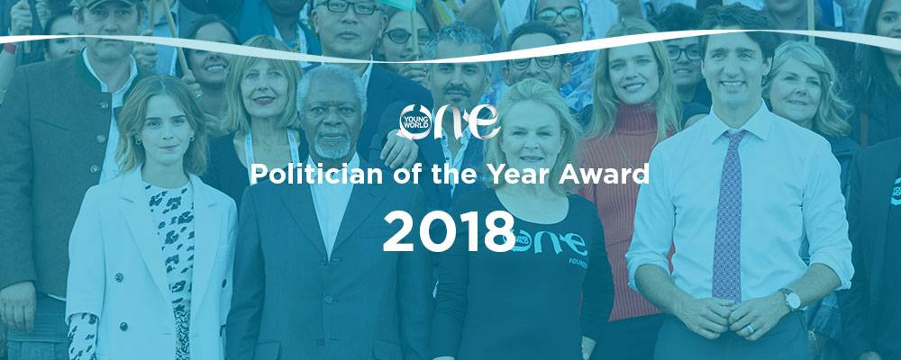 One Young World's Politician of the Year Award (Funded to the One Young World Summit 2018 in The Hague, The Netherlands)