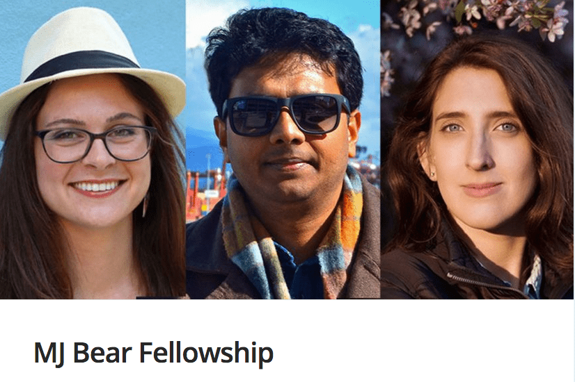 2018 MJ Bear Fellowships for Early-Career Digital Journalists (Fully Funded)