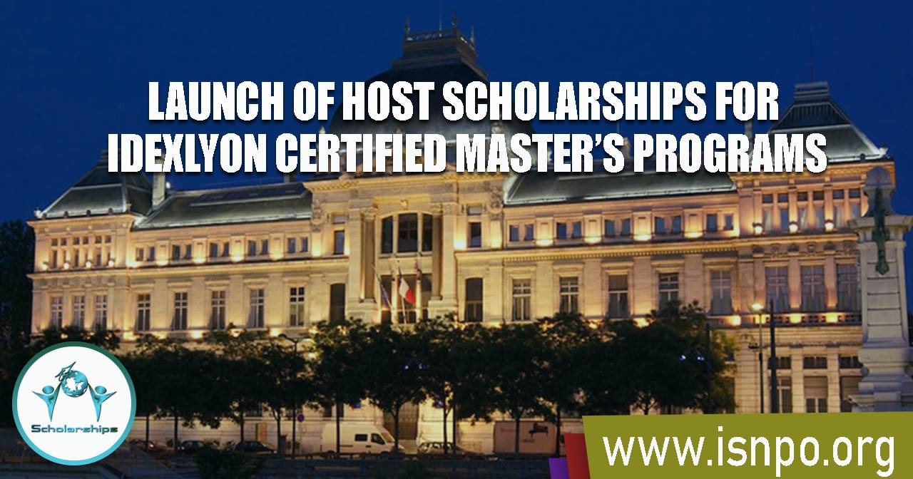 LAUNCH OF HOST SCHOLARSHIPS FOR IDEXLYON CERTIFIED MASTER'S PROGRAMS