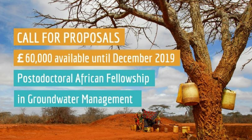 REACH African Postdoctoral Fellowship in Groundwater Management 2018 (Up to £60,000 of funding)