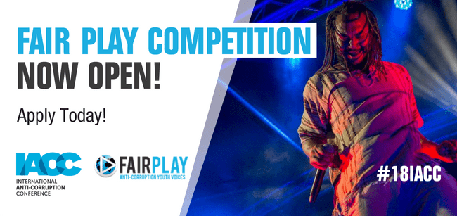 IACC Fair Play Competition 2018 for Young Bands  (Funded trip to Denmark for the International Anti-corruption Conference)