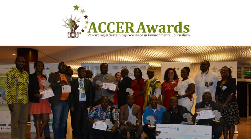 African Climate Change and Environmental Reporting (ACCER) Awards 2018 (Fully-funded to COP24 + $1000)