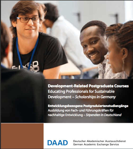 German Academic Exchange Service (DAAD) Development-Related Postgraduate Scholarships 2019/2020 in Germany for Developing Countries