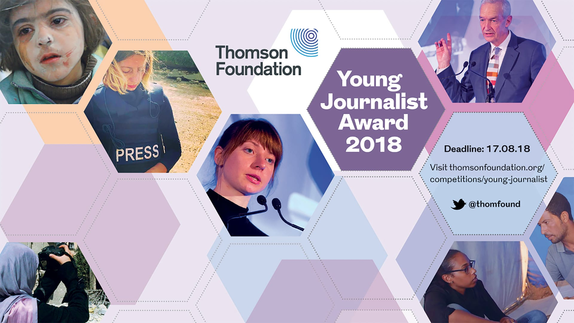 Thomson Foundation Young Journalist Award 2018 for Journalists worldwide (Fully Funded to London)