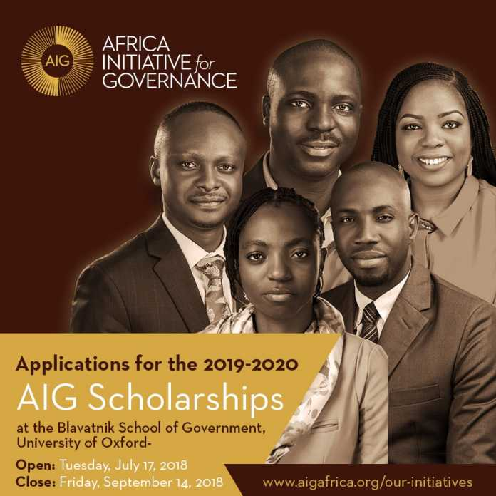Africa Initiative for Governance (AIG) Scholarships 2019/2020 for Study at Oxford, UK (Fully Funded)