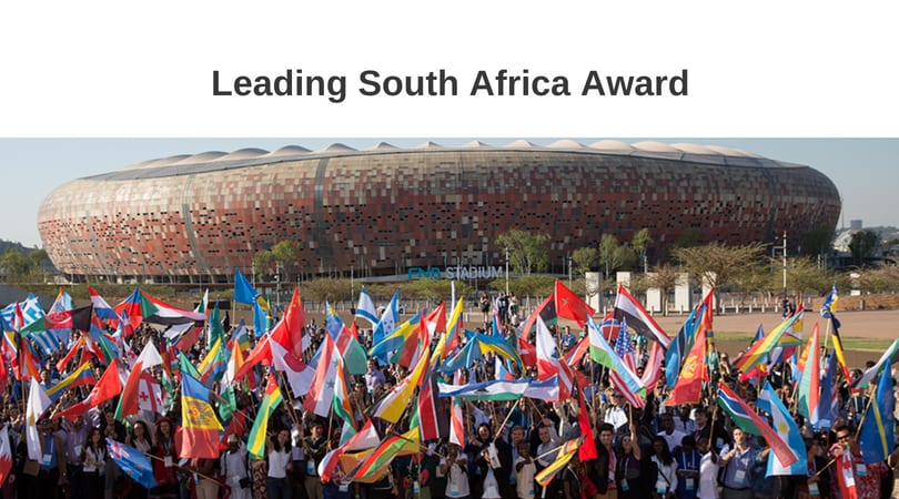 Leading South Africa Award to attend the One Young World Summit 2018 in The Hague, The Netherlands
