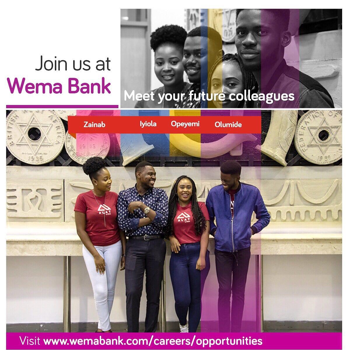 Wema Bank Graduate Trainee Recruitment 2018 for young Nigerian graduates.
