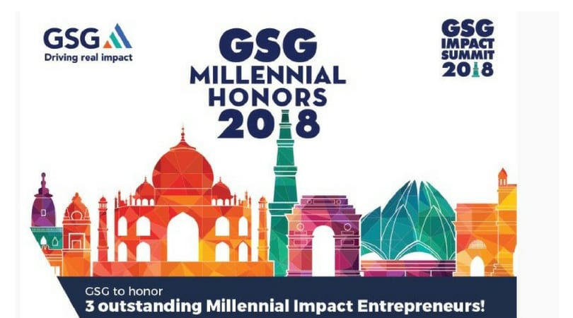 Global Steering Group for Impact Investment (GSG) Millennial Honors Award 2018 for Impact Entrepreneurs