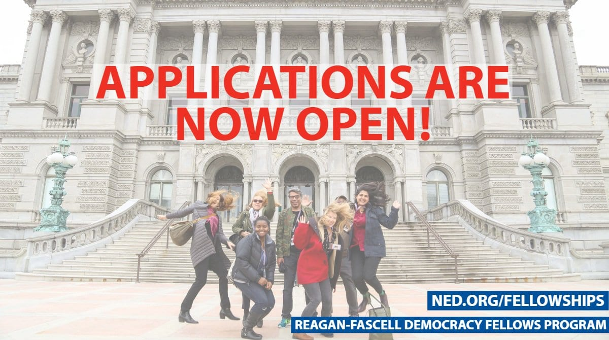 Reagan-Fascell Democracy Fellows Program 2019 for Democratic Activists, Scholars & Journalists (Fully Funded to Washington D.C. USA)