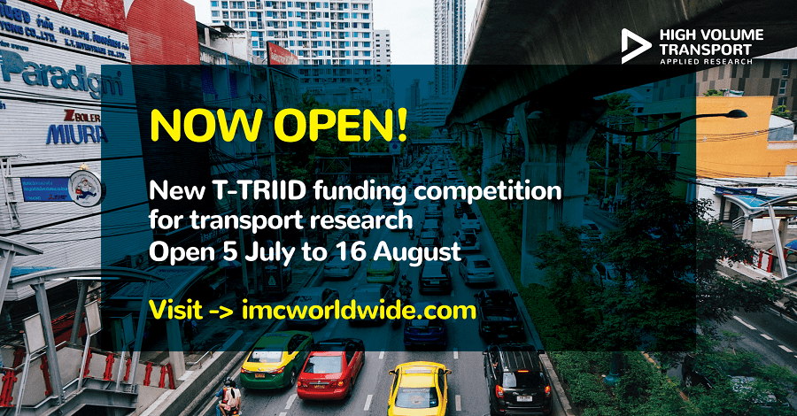 T-TRIID Funding Competition for Transport Research 2018 (Up to £30,000)