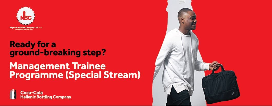 Nigerian Bottling Company (NBC) Management Trainee Programme 2018 (Special Stream) for young Nigerians
