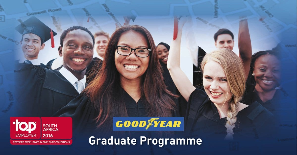 Goodyear Graduate-in-Training Programme 2019 for young South Africans.