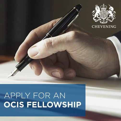 Chevening OCIS Fellowship Program 2019 for Mid-Career Professionals (Fully Funded for Study in the UK)