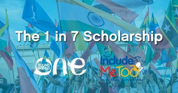 1 in 7 Scholarship to attend the One Young World Summit 2018 in The Hague, Netherlands (Fully Funded)