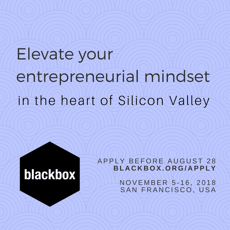 Blackbox Connect 24 Program 2018 for global startup founders (Fully Funded to Silicon Valley, USA)
