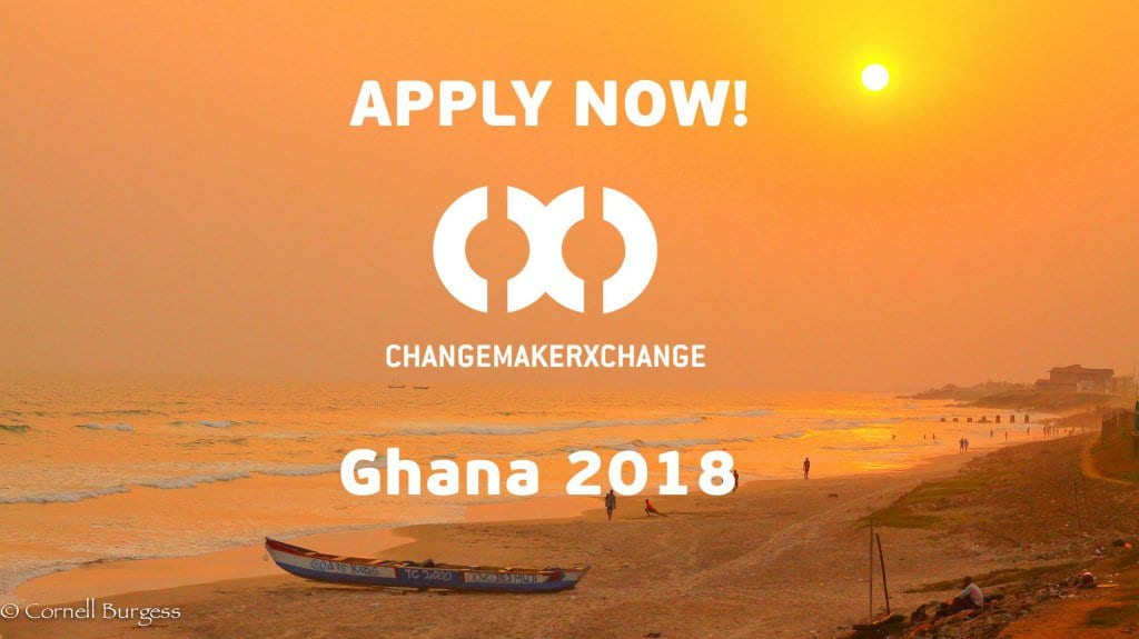 Ashoka ChangemakerXchange Summit 2018 for young social innovators in West Africa (Fully Funded to Ghana)