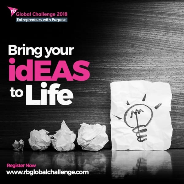 Reckitt Benckiser (RB) Annual Global Case Challenge 2018 for social impact students (Cash Prizes & Fully Funded to grand finale in London)