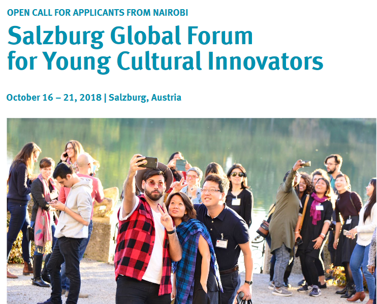 Salzburg Global forum 2018 for young Cultural innovators (Funded to Salzburg, Austria)