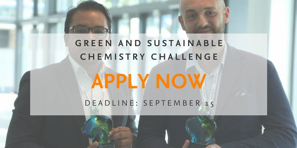 Elsevier Foundation Green and Sustainable Chemistry Challenge 2019 (€ 75,000 & Funded to Dresden, Germany