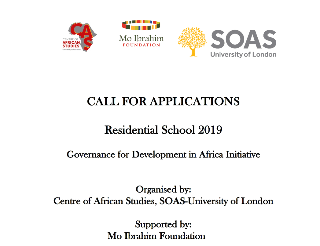The Mo Ibrahim Foundation Governance for Development in Africa Initiative Residential School 2019 (FULLY FUNDED)