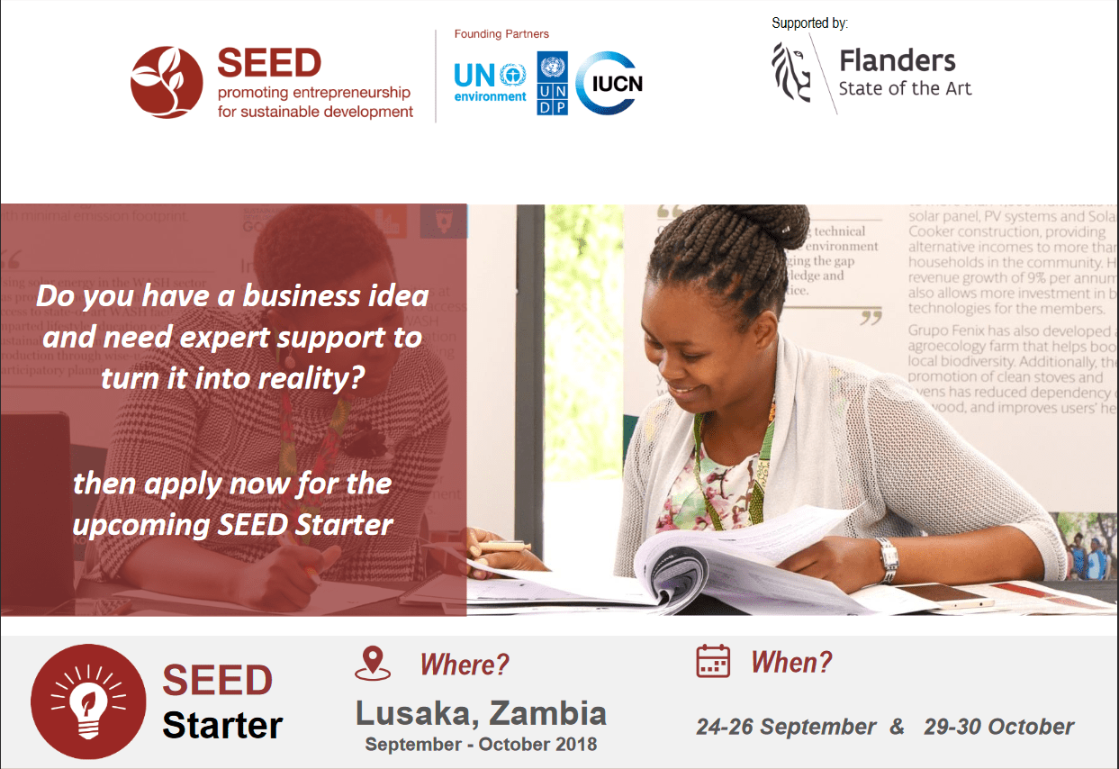 SAG-SEED Starter Workshop 2018 for eco-inclusive enterprise in Zambia