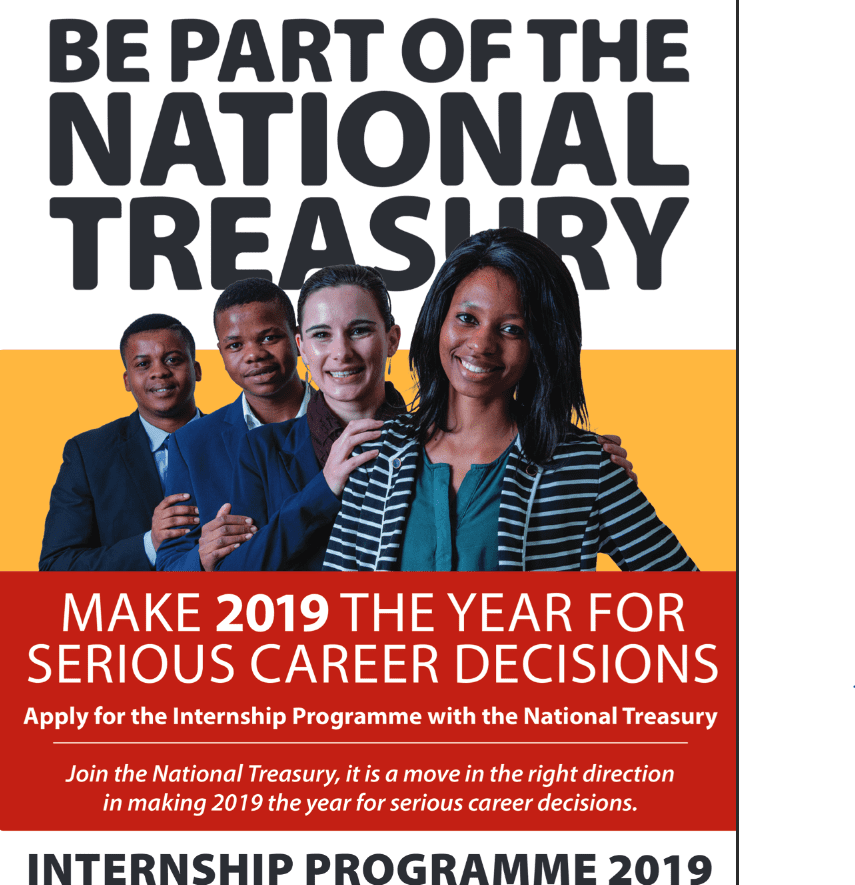 National Treasury Internship Programme 2019 for young South Africans