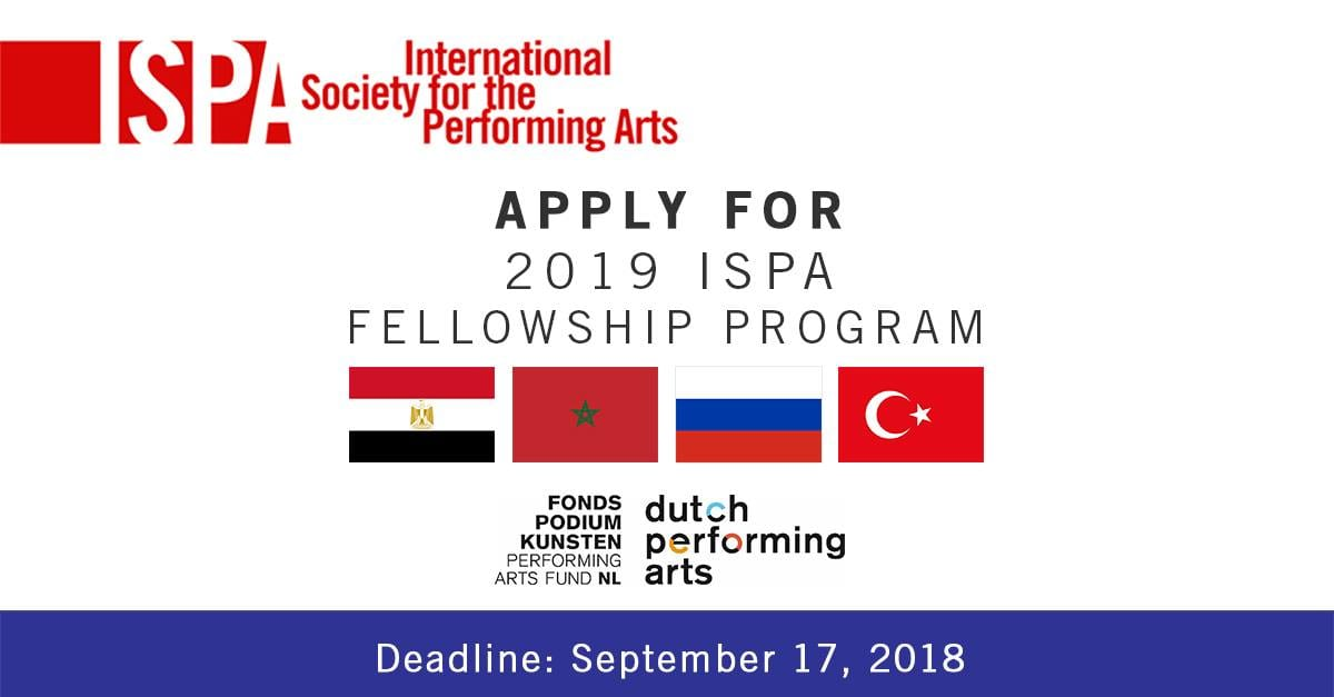 International Society for the Performing Arts (ISPA) MENA Fellowship Program 2019 (Funded)