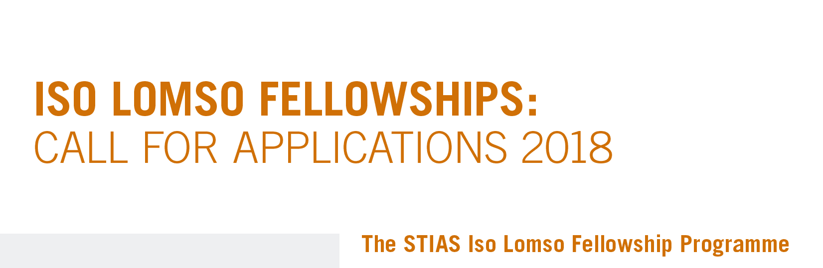 Iso Lomso Fellowships 2018 for Early Career African Researchers (Fully Funded)