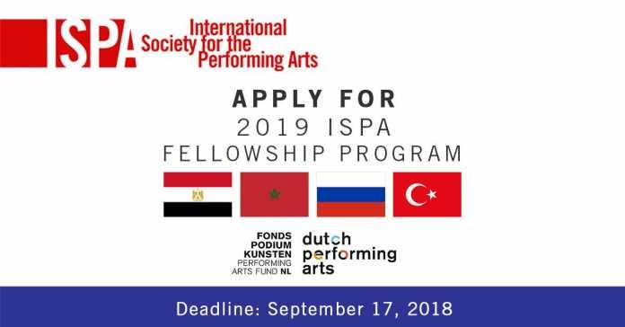 International Society for the Performing Arts (ISPA) Netherlands Fellowship Program 2019