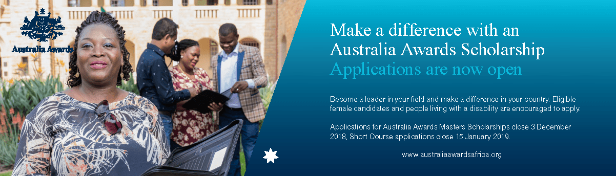 Australia Africa Awards Masters Scholarships 2019 for Study in Australia (Fully Funded)