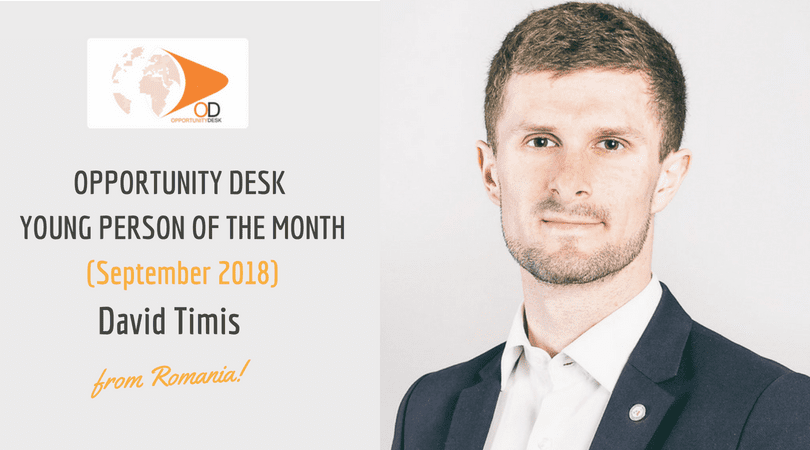 David Timis from Romania is OD Young Person of the Month for September 2018!