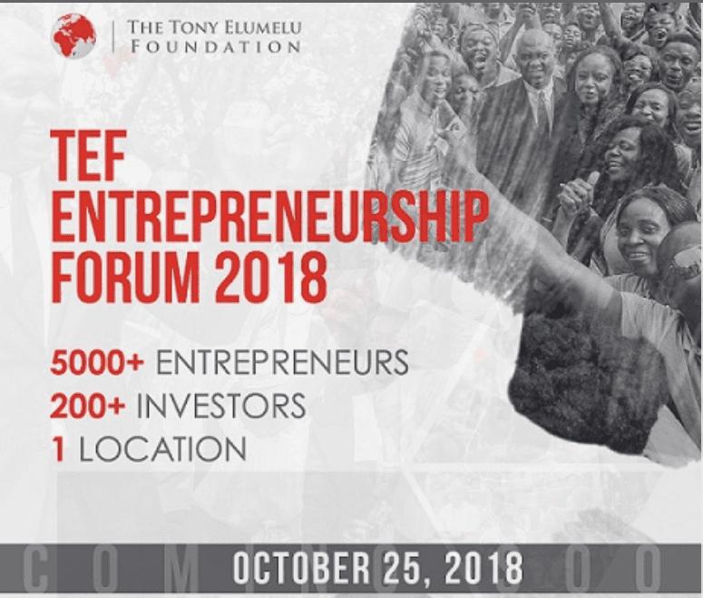 Tony Elumelu Foundation Entrepreneurship Forum (TEF) 2018 Travel Fellowships for African journalists. (Funded to Lagos,Nigeria)