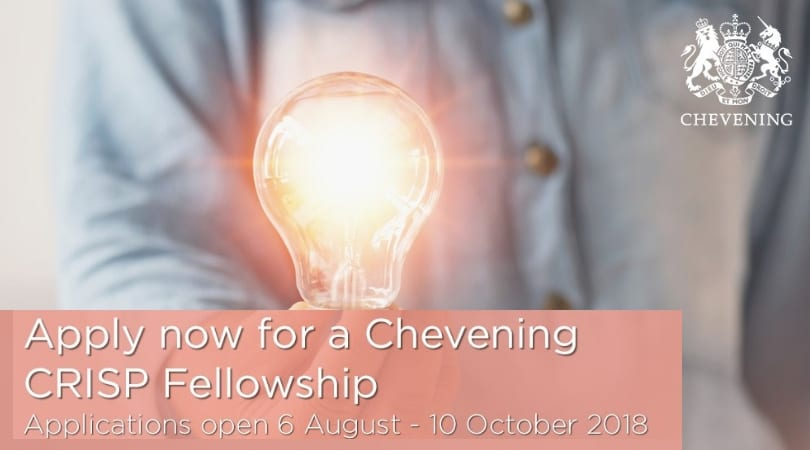 Chevening Research Science and Innovation Leadership Fellowship (CRISP) 2019 for India and Sri Lanka
