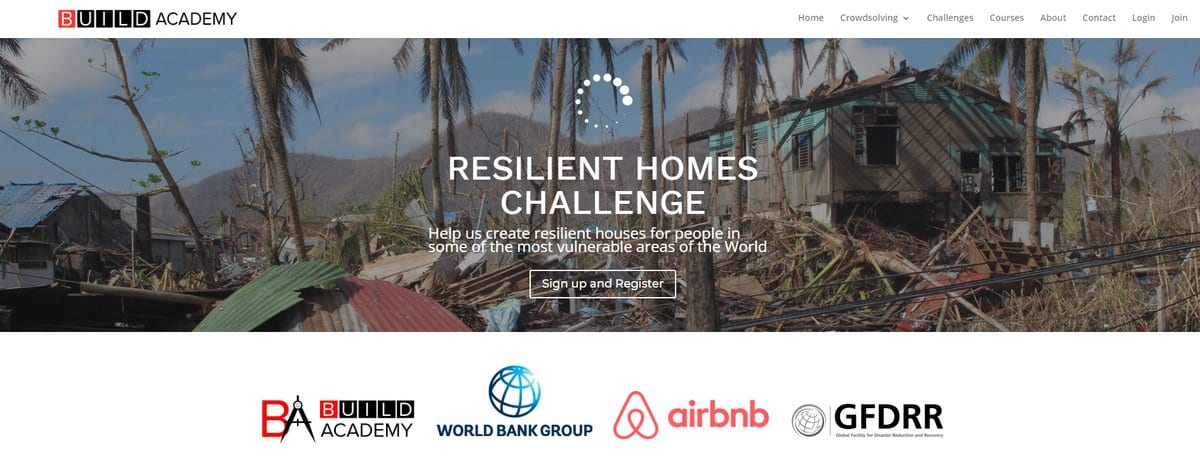 World Bank/Build Academy Resilient Home Challenge 2018 for Architects & Engineers ($ 10,000 prize)