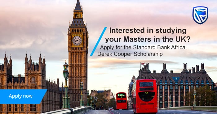 Requirement Bank Derek Cooper Africa Scholarships 2019 for Young Africans to study in the UK (Totally Moneyed)