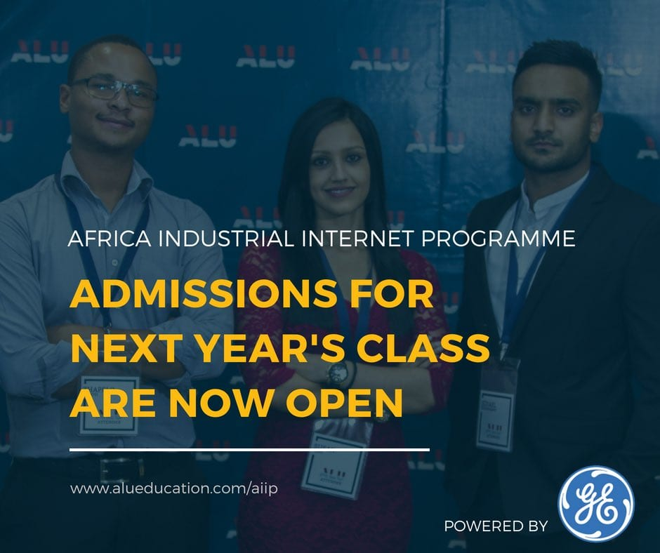 GE Africa/ALU Africa Industrial Web Program 2019 for young African Specialists (Complete Tuition Scholarships Readily Available)