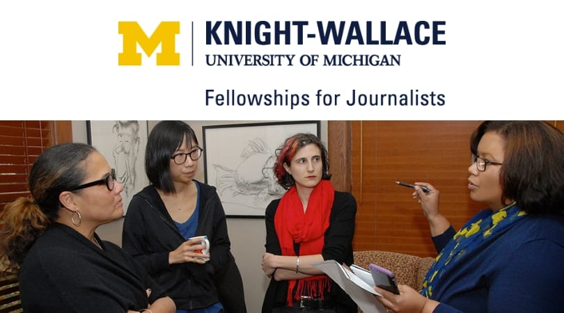 University of Michigan Knight-Wallace Journalism Fellowship for Reporters 2019/20(Fully-funded)