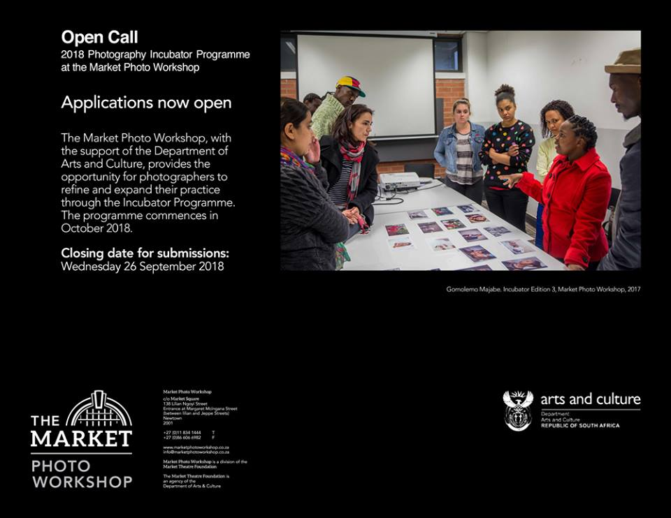 2018 Department of Arts and Culture Photography Incubator at the marketplace Image Workshop for South Africans