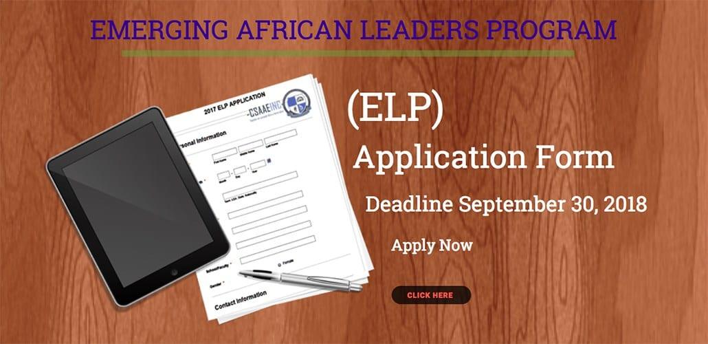 CSAAEINC Emerging African Leaders Program 2018 for Nigerian Undergraduate Trainees (Completely Moneyed)