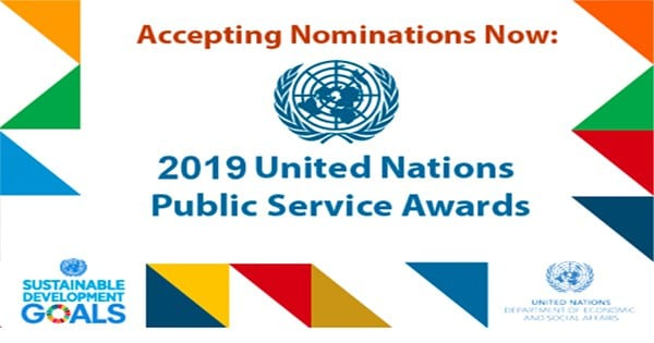 Require Elections: United Nations Civil Service Awards (UNPSA) 2019